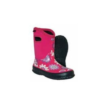 Itasca Kids Girls Bayou Neoprene Boots Pink Flowers