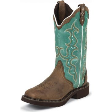 Justin Womens Brown Cowhide Gypsy Cowgirl Boots