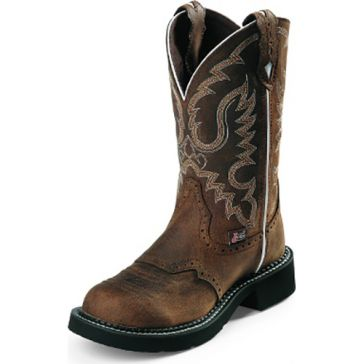 Justin Womens Brown Gypsy Cowgirl Boots
