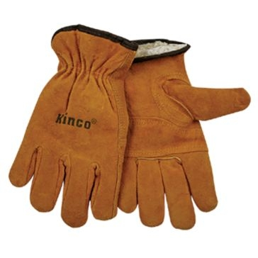 Kinco Suede Lined Split Cowhide Leather Driver Gloves
