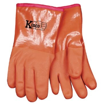 Kinco Amber Acrylic Lined PVC Gloves