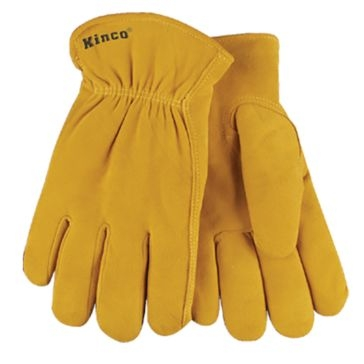 Kinco Lined Split Deerskin Leather Driver Gloves
