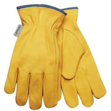 Kinco Womens Natural Unlined Grain Cowhide Leather Driver Gloves