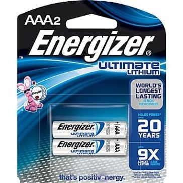 Energizer Lithium AAA Batteries 2PK