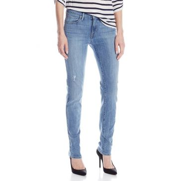 Levi's Womens  Mid Rise Cracked Up Skinny Jeans