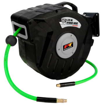 Performance Tool 3/8in x 50ft Hybrid Hose & Retractable Reel