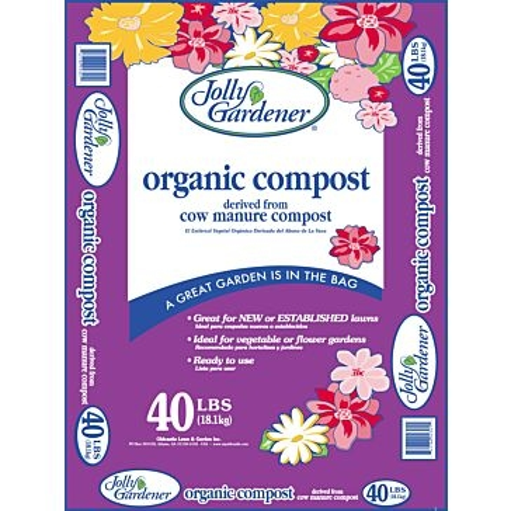 Jolly Gardener Organic Cow Manure Compost 40lb