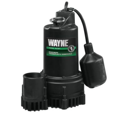 Wayne 1/3HP Thermoplastic Tether Float Sump Pump RSP-130