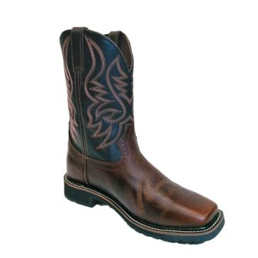 "Justin Men's Stampede 11"" Pull-On Square Toe Work Boots"