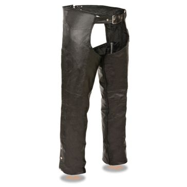 Milwaukee Leather Mens Chap w/Coin Pocket Black