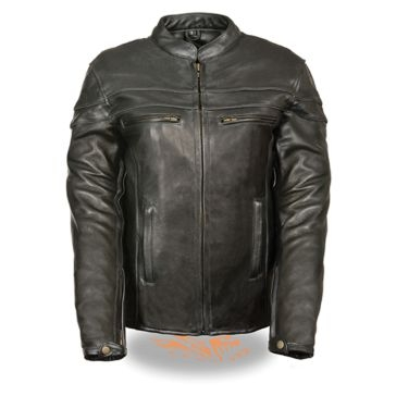 Milwaukee Leather Womens Sporty Scooter Crossover Jacket Black