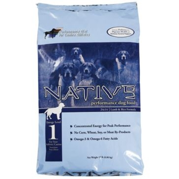 Native Energy Level 1 Lamb Meal & Rice Formula Dog Food 40lb