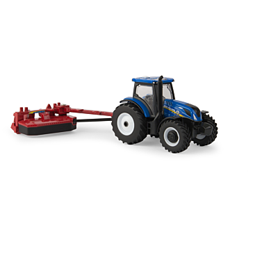 Ertl New Holland T6.175 Tractor W/H7230 Mower Conditioner 1:64