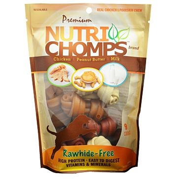 "Nutri Chomps Assorted Flavor Knots 4"" 9 Ct."