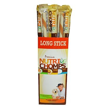 "Nutri Chomps 15"" Peanut Butter Wrapped Long Stick"