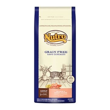 Nutro Grain Free Adult Dry Cat Food - Salmon & Potato Recipe