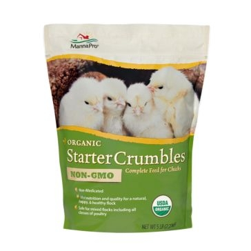 MANNA PRO ORGANIC STARTER CRUMBLES COMPLETE FEED 5LB