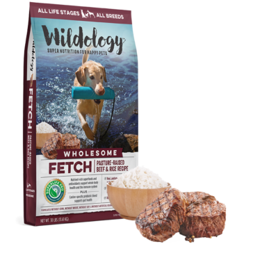Wildology FETCH Beef & Rice Dog Food 30lb