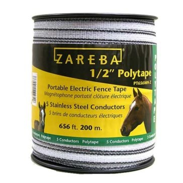 Zareba 1/2-inch x 656ft Poly Electric Fence Tape