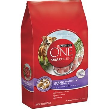 Purina One Smartblend Vibrant Maturity +7 Senior Formula Premium Dry Dog Food