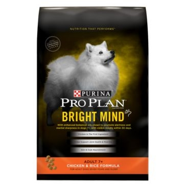 Purina Pro Plan Bright Mind Adult 7+ Chicken & Rice Formula Dry Dog Food
