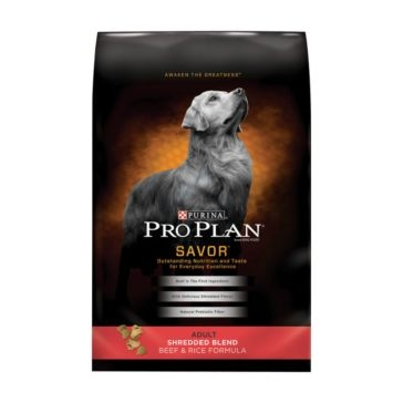Purina Pro Plan Savor Adult Shredded Blend Beef & Rice Formula Dry Dog Food