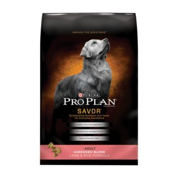 Purina Pro Plan Savor Adult Shredded Blend Lamb & Rice Formula Dry Dog Food