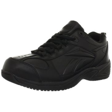 Reebok Mens Black Jorie Non Metallic Slip Resistant Work Shoes