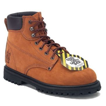 Rhino 6in Safety Toe Lug Nubuck Work Boots