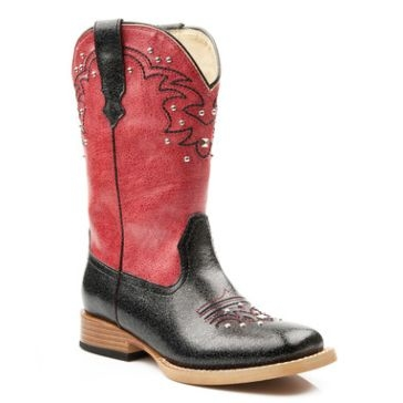 Roper Kids Studded Square Toe Cowgirl Boots