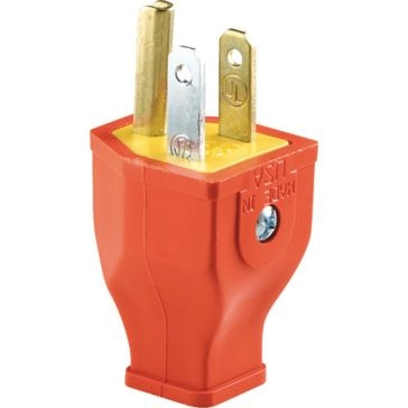 Cooper Orange 3 Wire Grounding Plug SA3990
