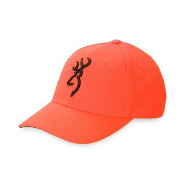 Browning Safety Blaze Orange Buckmark Cap