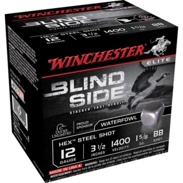 "Winchester Elite Blind Side Hex Steel Shot 12ga 3-1/2""  BB-Shot"