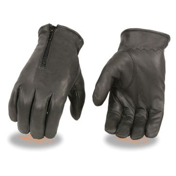 Milwaukee Leather Mens Unlined Driving Gloves BLK