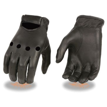 Milwaukee Leather Mens Unlined Driving Gloves KN BLK