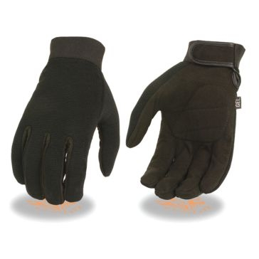 Milwaukee Leather Mens Mechanics Gloves GP BLK
