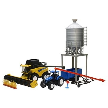 New Ray Toys USA New Holland Combine with Bin & Auger