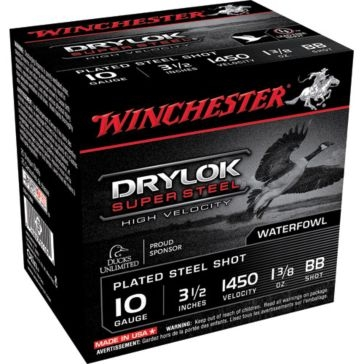 "Winchester DryLok Super Steel HV 10ga 3-1/2"" BB-Shot"