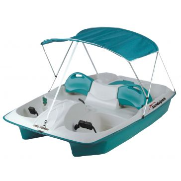 Sun Dolphin 5-Person Sun Slider Pedal Boat Teal