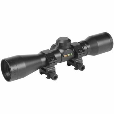TruGlo Scope 4x32 Crossbow Black With Scope Rings TG8504B3