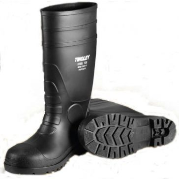 "Tingley 15"" PVC Rubber Knee Boots Black"
