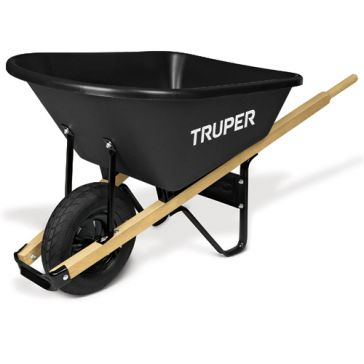 Truper 6 cu ft Singe-Wheel Poly Tray Wheelbarrow