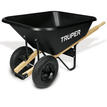 Truper 8 cu ft Dual-Wheel Poly Tray Wheelbarrow