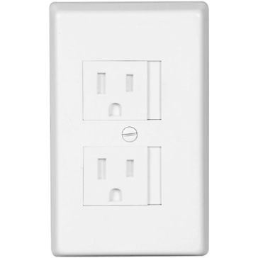 Cooper White Safety Wall Plate TRW15W