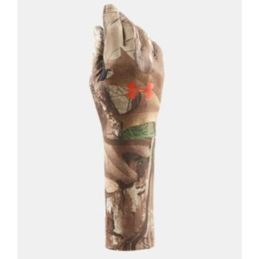 Under Armour Boys ColdGear Camo Liner Gloves -  Real Tree AP-Xtra