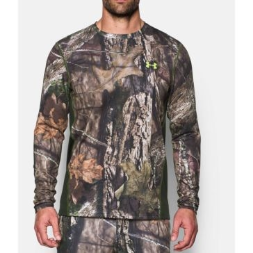 Under Armour Mens Tech Scent Control Long Sleeve Shirt - Mossy Oak Open Country