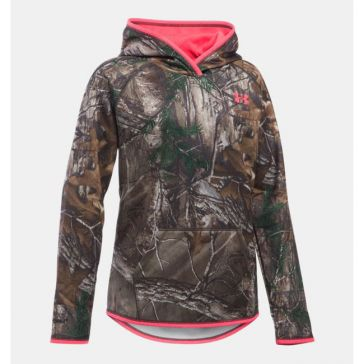 Under Armour Girls Camo Icon Hunting Hoodie 1279573