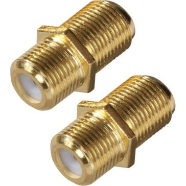 Zenith Coaxial Connector Feed-Thru 2 Pack VA1002RG6FT