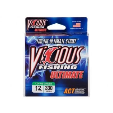 Vicious Ultimate 12lb Lo-Vis Fishing Line 330 Yard Spool