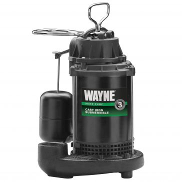 Wayne 1/3HP Cast Iron Sump Pump with Vertical Float Switch CDU-790